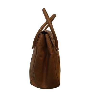Gold hammered leather Handbag-7