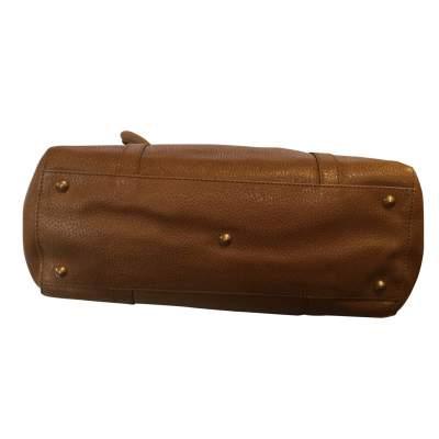 Gold hammered leather Handbag-9