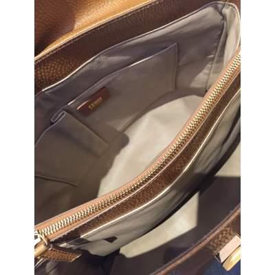 Gold hammered leather Handbag-11
