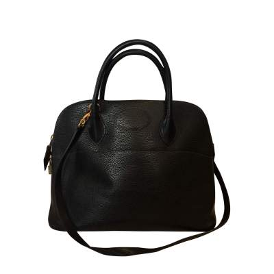 Black leather Bolide Bag-0
