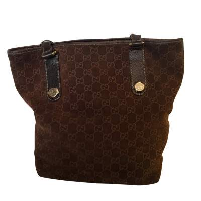 Brown monogram suede Bag-3