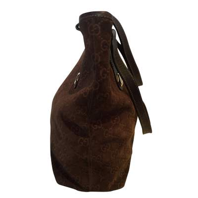 Brown monogram suede Bag-7