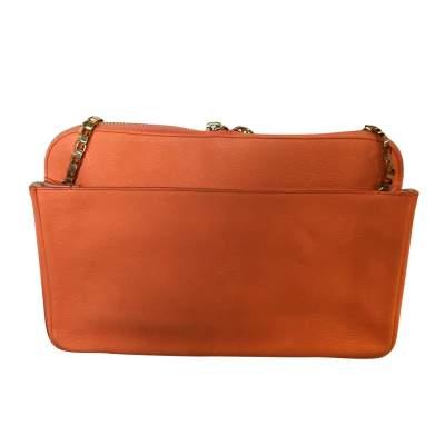 Orange grained leather Bag-3