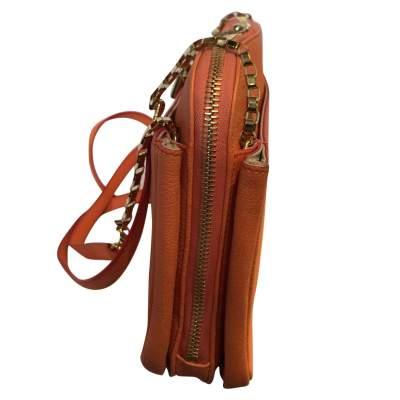 Orange grained leather Bag-5