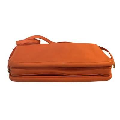 Orange grained leather Bag-9