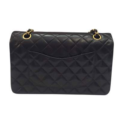 Quilted chocolate leather Bag-3