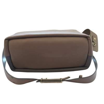 Beige and light gray  leather Handbag -7