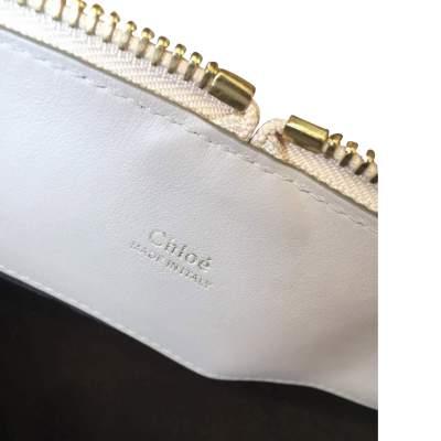 Beige and light gray  leather Handbag -11