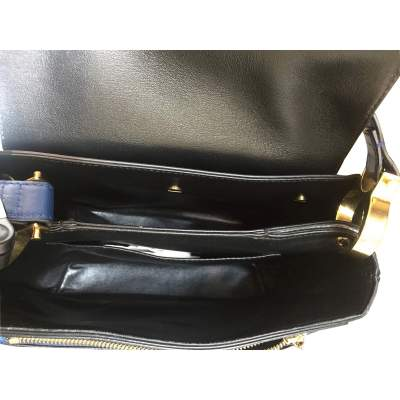 Tri-color leather Handbag-11