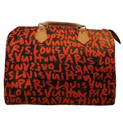 Graffiti monogram canvas Bag -0