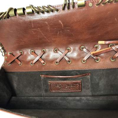 Brown leather Cluth-11