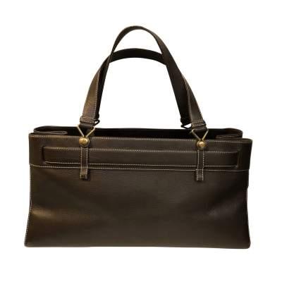 Chocolate leather Bag-3