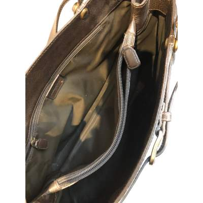 Chocolate leather Bag-9