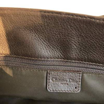 Chocolate leather Bag-11