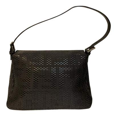 Black braided leather Bag-3