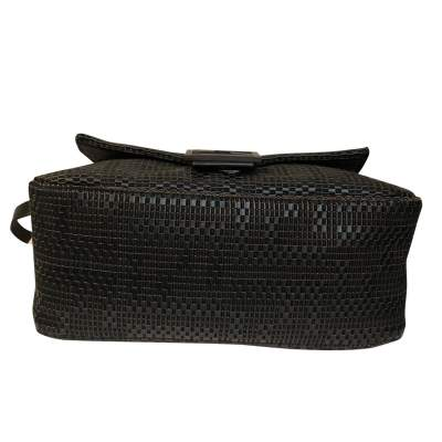 Black braided leather Bag-7