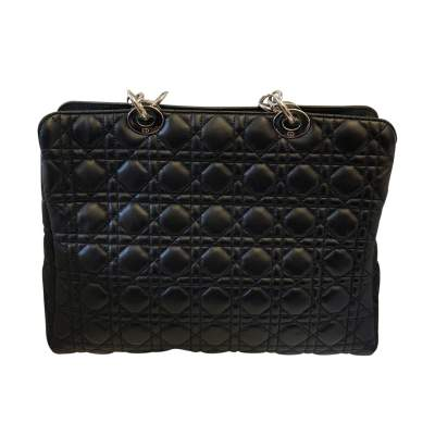 Quilted black leather Bag-3