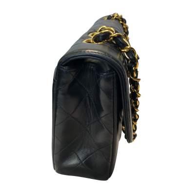 Vintage Black quilted leather Bag-5