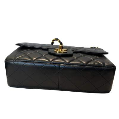 Vintage Black quilted leather Bag-7