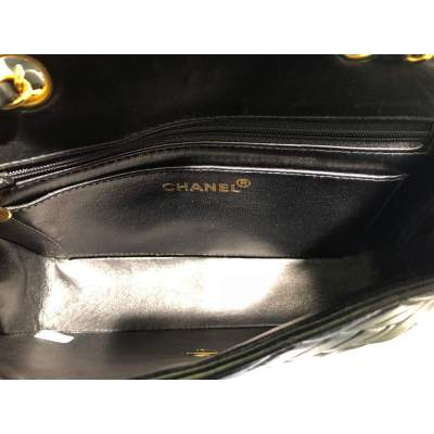 Vintage Black quilted leather Bag-9