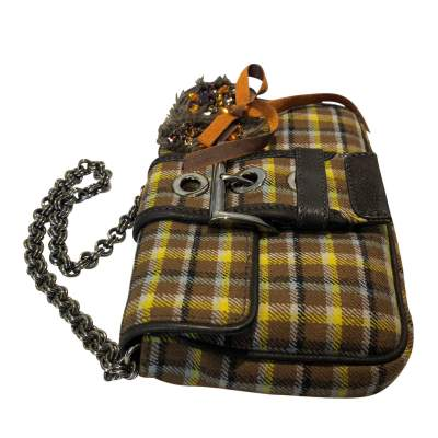 Small plaid wool Bag-7