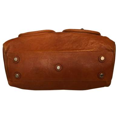 Large gold leather Bag-9