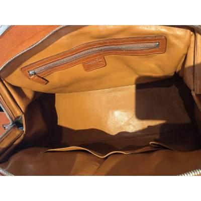 Large gold leather Bag-11