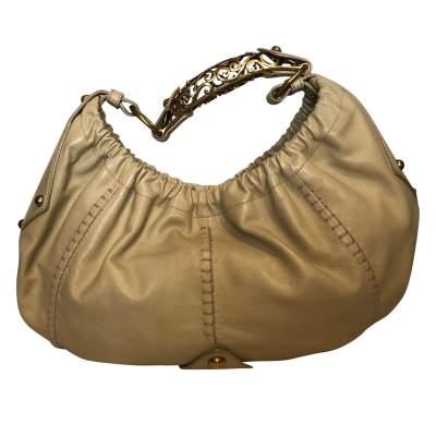 Beige leather Bag-3