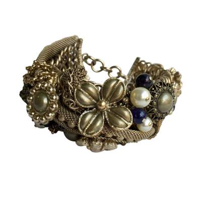 Large gold metal Bracelet -0