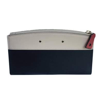 All-in-one beige and black leather Wallet-3