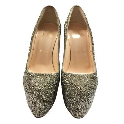 New rhinestone silver platform Shoe-5