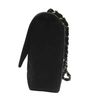 Classic jumbo bag in black Suede-5