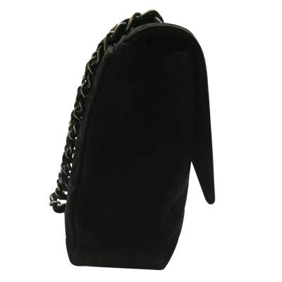 Classic jumbo bag in black Suede-7