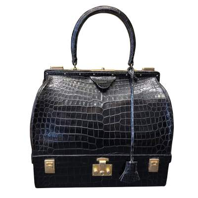 Black crocodile leather Bag-0