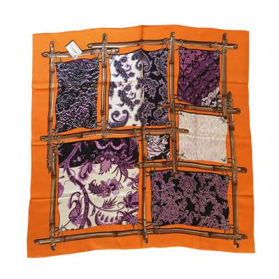 Purple and orange Scarf-0