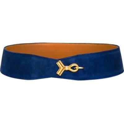 Hermes Electric Blue Cordeaux Belt-0