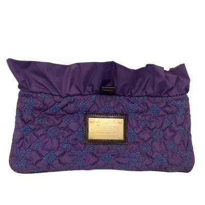 Limited edition purple monogram fabric Clutch-0