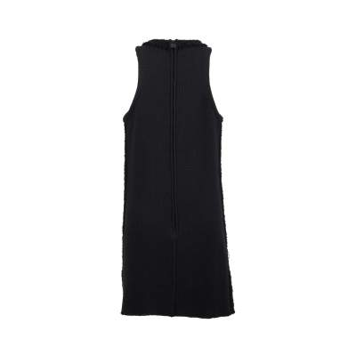 Black wool Dress-3
