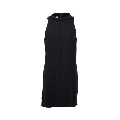 Black wool Dress-0