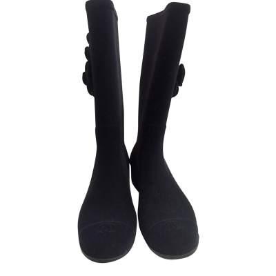 New velvet rain Boots-3