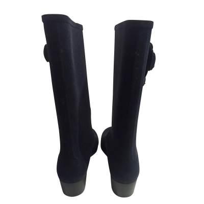 New velvet rain Boots-5
