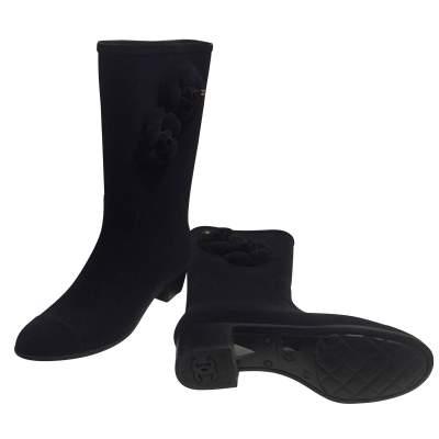 New velvet rain Boots-7