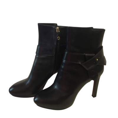 Platform black leather Boots-0