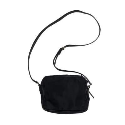 Vintage Black Nylon Crossbody Pouch-3