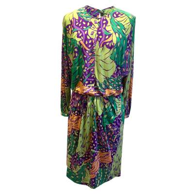 Vintage 100% silk summer 1991 Dress-1