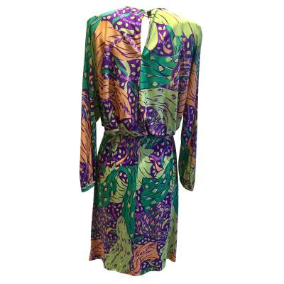 Vintage 100% silk summer 1991 Dress-3