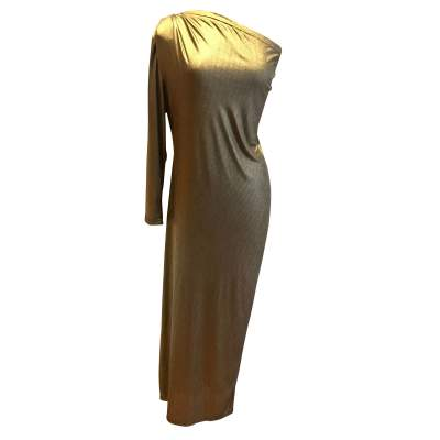 Vintage golden long summer 1987 Dress-0