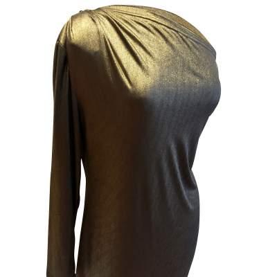 Vintage golden long summer 1987 Dress-5