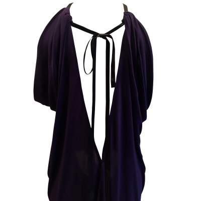 Vintage purple long  Dress-7
