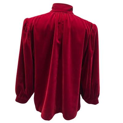 Vintage late 1970 red velvet Jacket -3